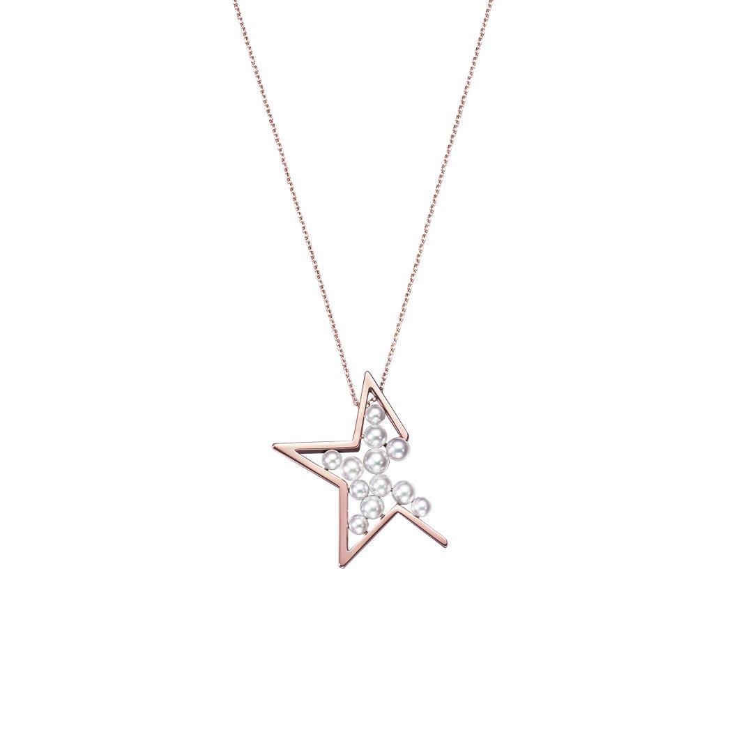 abstract star 项链