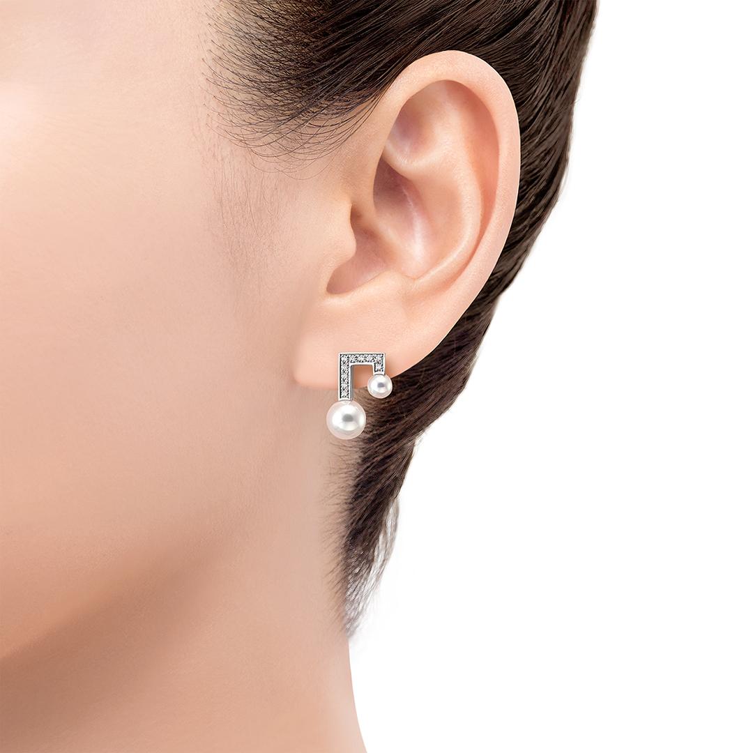 balance note pavé 耳钉